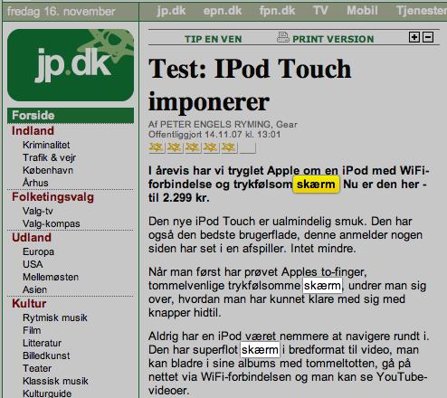 skærmbillede på macbook